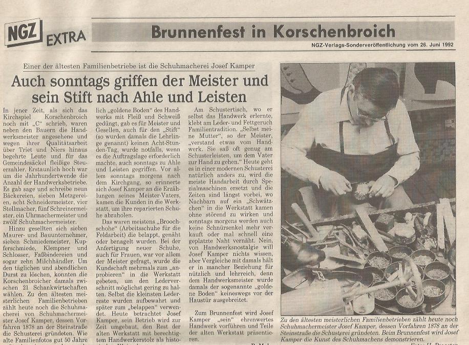 Brunnenfest in Korschenbroich 1992